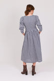 Navy Gingham Cotton Riding House Dress