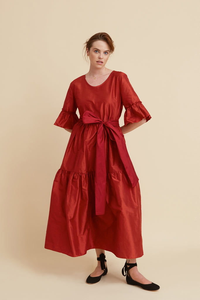 Ruby Silk Primrose Hill Dress