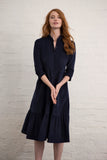 Navy Corduroy Saltaire Shirt Dress