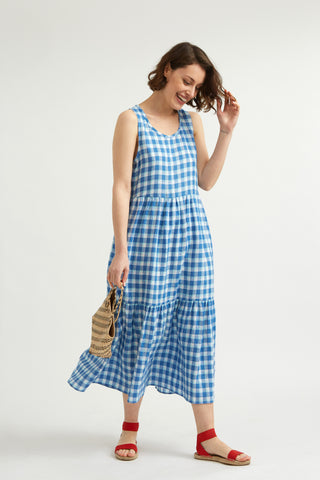 Check Linen Whitby Dress