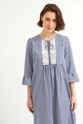 Navy Gingham Greenwich Dress