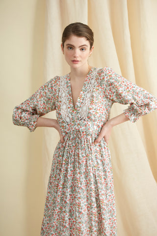 Rosebud Floral Cotton London Fields Dress