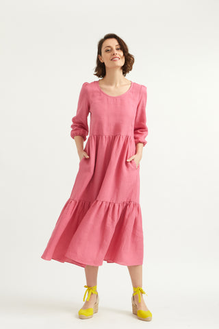 Pink Linen Petticoat Lane Dress