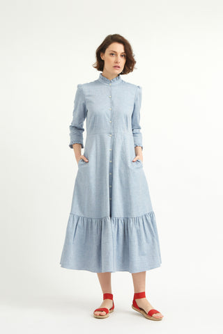 Chambray Saltaire Shirt Dress