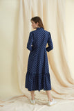 Flower Dot Saltaire Shirt Dress