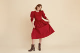 Scarlet Corduroy Victoria Dress