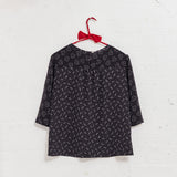Stepney Black Silk Printed Top