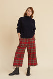 Tartan Wool Brighton Crop Trouser