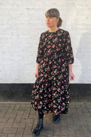 Vintage Rose Corduroy Mill Town Dress