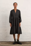 Grey Gingham Linen Whitstable Dress