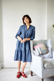 Blue Gingham Linen Whitstable Dress