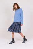 Haze Blue Lambswool Skye Jumper
