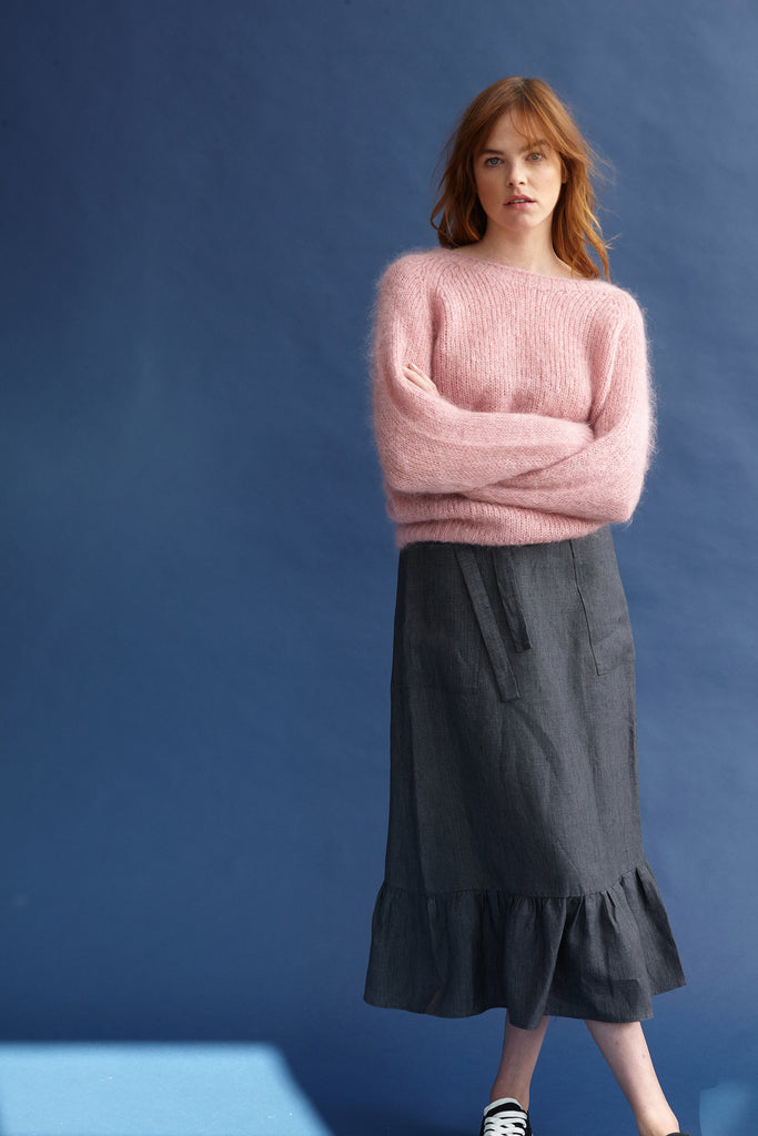 Mohair Blush Pink Jumper