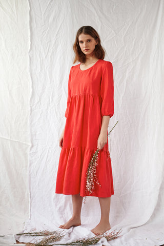 Rose Linen Petticoat Lane Dress