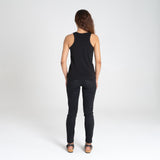 Ribbed Singlet  | Black