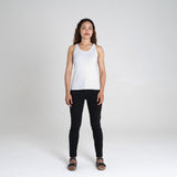 Ribbed Singlet  | White