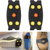 Anti Slip Ice Climbing Spikes Grips Crampon Cleats 5-Stud Shoes Cover    Safety & Survival Z0605