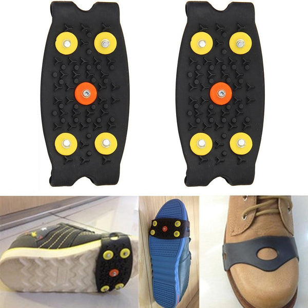 Anti Slip Ice Climbing Spikes Grips Crampon Cleats 5-Stud Shoes Cover    Safety & Survival Z0605 | Prepper Profi und  Krisenvorsorge