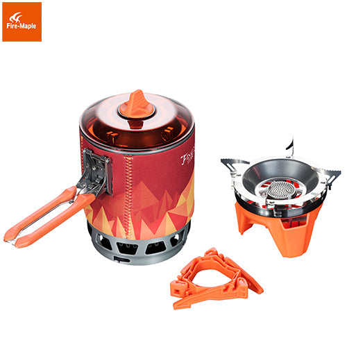Fire Maple Outdoor Personal Cooking System Hiking Camping Equipment Oven Portable Gas Stove Burner Pot Picnic 0.8L FMS-X3 X2