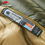 NatureHike Adult Winter Sleeping Bag Mummy Type Down Sleeping Bag Splicing Single Sleeping Bag Camping Equipment