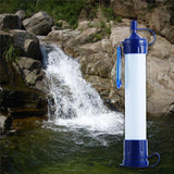 New Portable ABS Plastic Water Filter Camping Hiking Pressure Purifier Cleaner Outdoor Wild Drinking Safety Survival Emergency