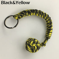 Outdoor Security Protection Black Monkey Fist Steel Ball For Girl Bearing Self Defense Lanyard Survival Key Chain Broken Windows | Prepper Profi und  Krisenvorsorge