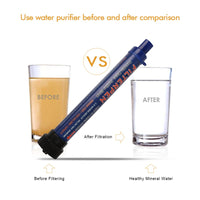 Portable Water Filter 0.2 Microns Purifier Straw Purifying Outdoor Survival Gear Hiking Camping Drinking Water Purifier Filter | Prepper Profi und  Krisenvorsorge