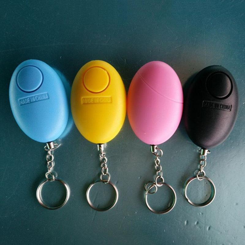 Self Defense Keychain Personal Alarm Emergency Siren Song Survival Whistle Device Random Color LCC77