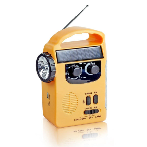 Solar Radio mit Kurbel,  LED Flashlight