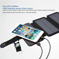 useful Solar Panels Charger Portable Solar Power Bank Outdoors Emergency 5V/1A 10W Power Charger for Mobile Phone Tablets