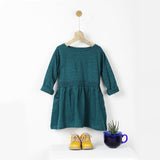 Teal Green Smocked T-shirt Dress