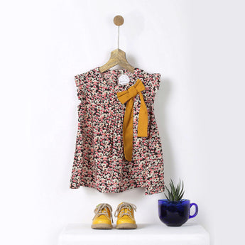 Pink & Black Floral Print Tunic with Matchy Pluie Bag