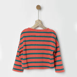 Orange & Teal Green Striped Sweater