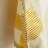 Ochre Yellow Woven Checks Tee