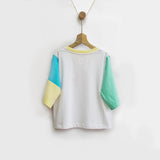 Curious Cat Color Block Tee