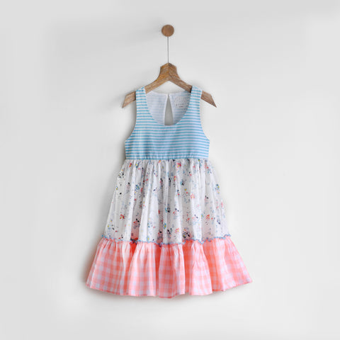 Tiered Printemps Dress, Racer Back