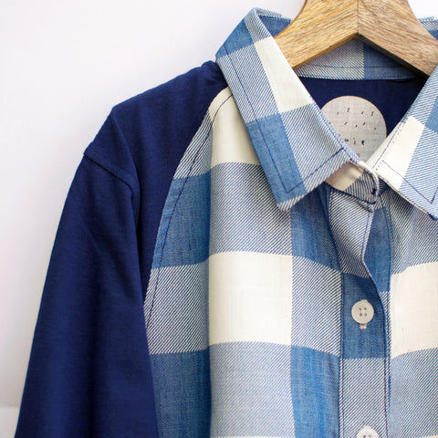 Blue & White Checked Shirt