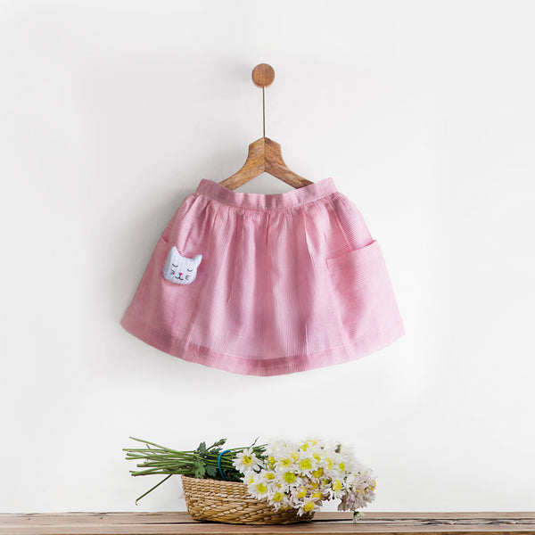 Pink Skirt with Big Pockets