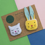 Friends of Pluie Brooches (Set of 2)