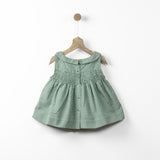 Peter Pan Green Checks Smock Top