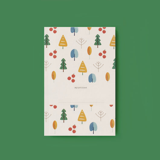 Winter Forest Notebook- With Name Stamp Customisation