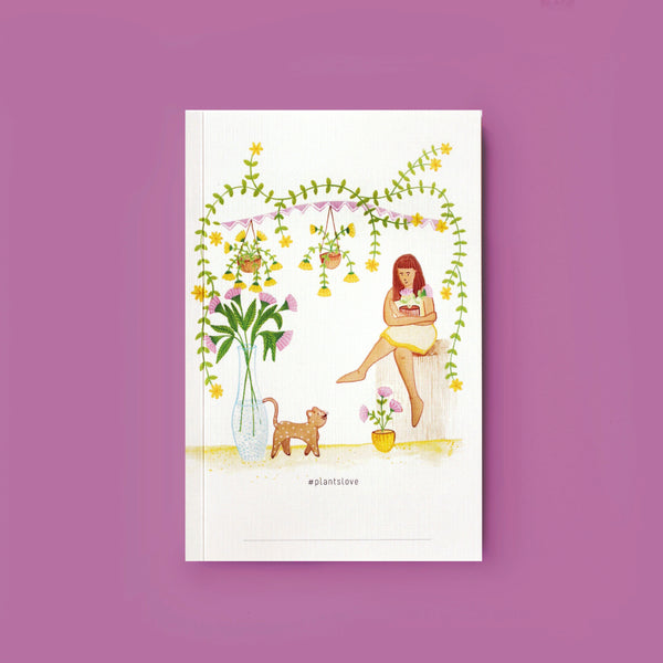 Feline Love Notebook - With Name Stamp Customisation