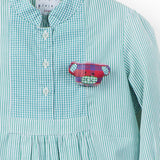 Mint Stripes Shirt Dress with Pockets