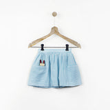 Mint Skirt with Big Pockets