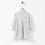 Off White Checks Shirt Dress with Pockets