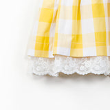 Yellow Pinafore with Back Bow Detail