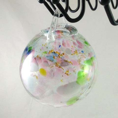 Large Handmade Garden Ball / Christmas Ball Ornament, Mixed Colors, Mothers Day Gift