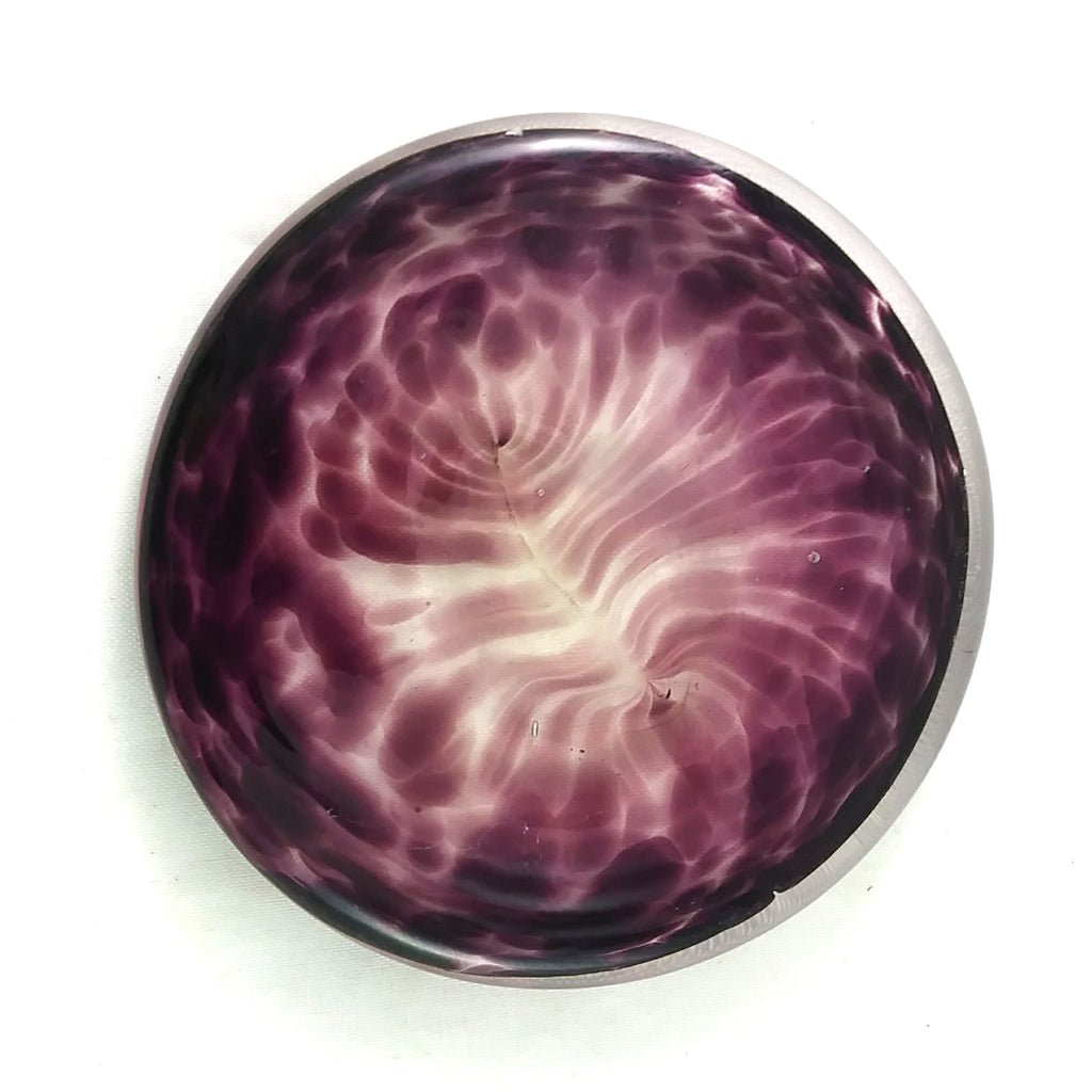 Art Glass Rondel for Stained Glass Work, Purple, 3""