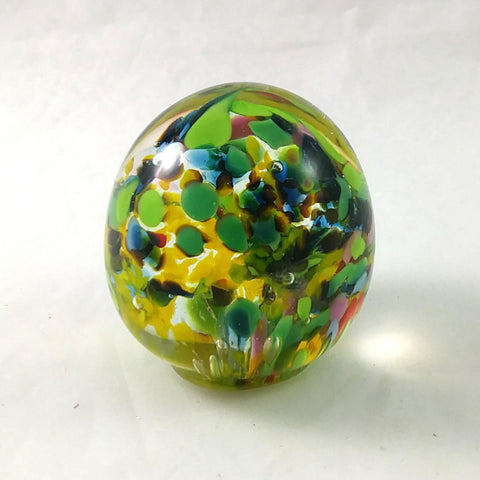 Handmade Art Glass Easter Egg Paperweight, Multi Color, Small