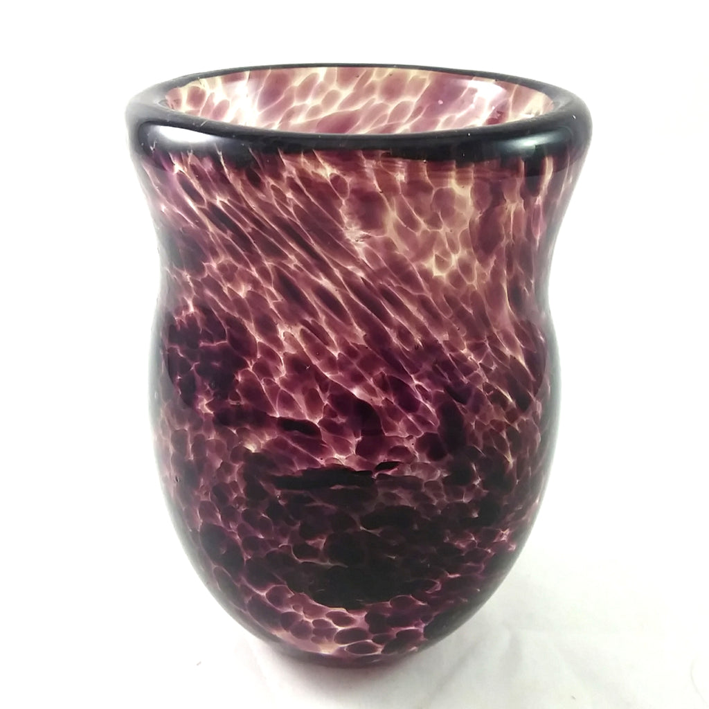 Handmade Art Glass Shot Glass, Purple